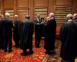 Obama with Supreme Court Justices