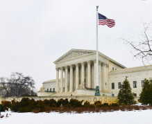 Washington DC in Winter - Supreme Court Building