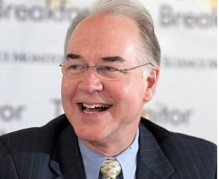 WASHINGTON, DISTRICT OF COLUMBIA - JUNE 05: Rep. Tom Price, vice chairman of the House Budget Committee speaks at the St. Regis Hotel on June 5, 2013 in Washington, DC.   (Photo by  Michael Bonfigli/The Christian Science Monitor