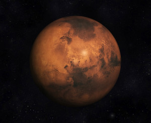 Digital 3D Illustration of the Planet Mars