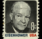 USA - CIRCA 1930: A stamp printed in USA shows Portrait President Dwight David Eisenhower circa 1930.